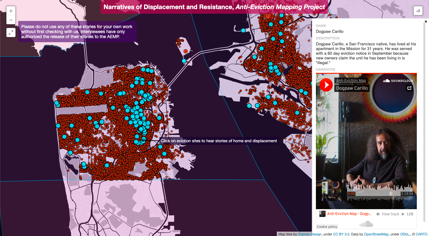 NARRATIVES OF DISPLACEMENT AND RESISTANCE - ORAL HISTORIES OF THE SAN FRANCISCO BAY AREA WITH THE ANTI-EVICTION MAPPING PROJECT