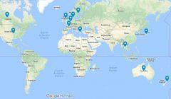 ESTS Authro Geo-Location Map