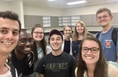 The first group of undergraduate student members in the STS Futures Lab
