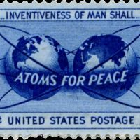 Atoms for peace post stamp