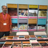 Science and Democracy in India booth, STS Across Borders Gallery Exhibit