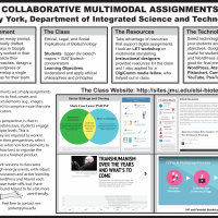 This image presents The Assignment, the Class, the Resources, the Technologies, and some narrative regarding multimodal assignments