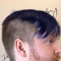 a picture of blue hair