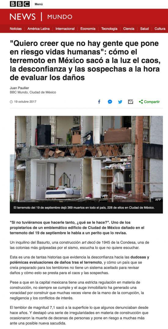 BBC Mexico earthquake