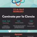 Caminata por la Ciencia Flyer, BioMuseo, Calzada de Amador, April 22, 2017