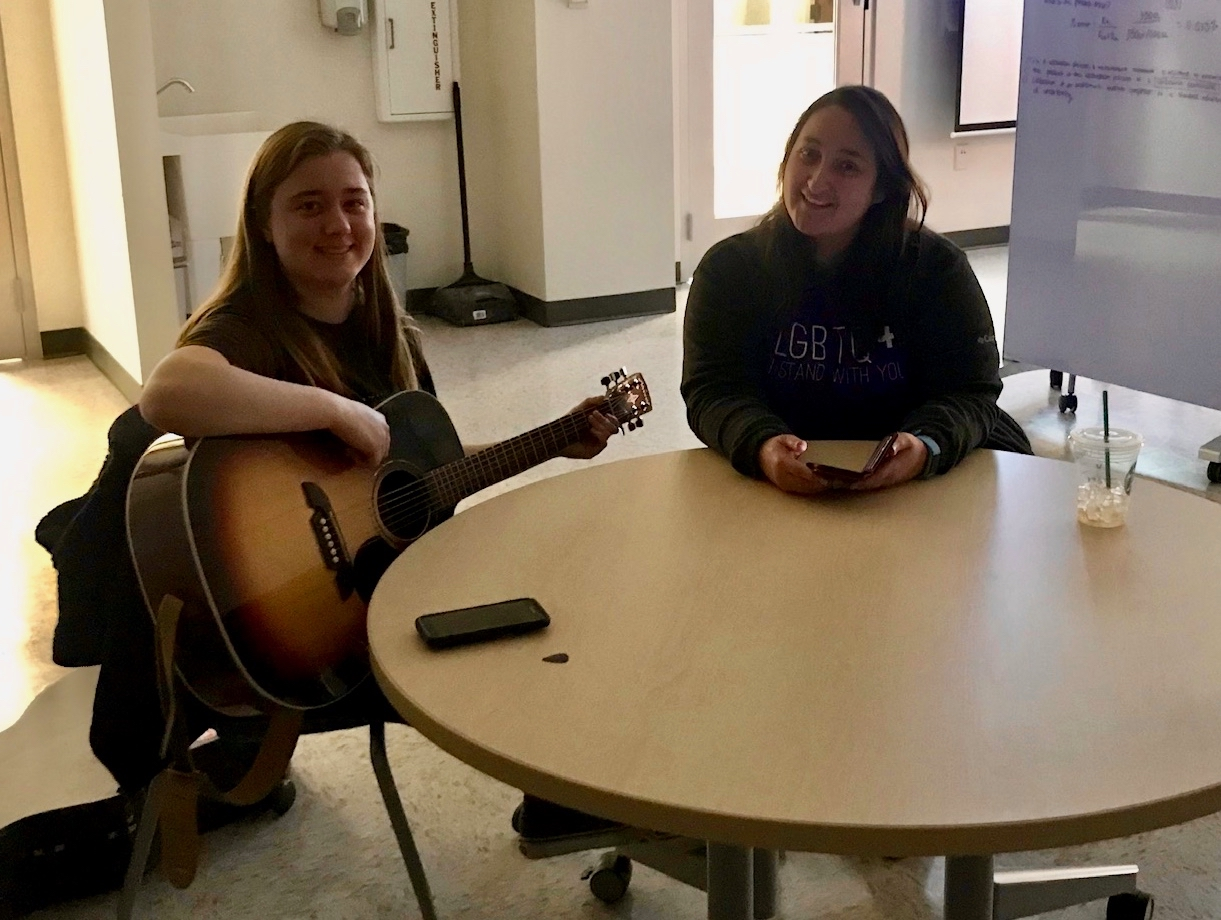 Two undergraduate student members of the STS Futures Lab write a design fiction song
