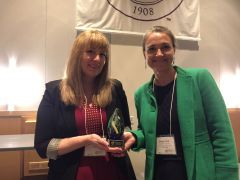 Emily York and Shannon N. Conley receive the 2018 Excellence In Teaching With Technology award