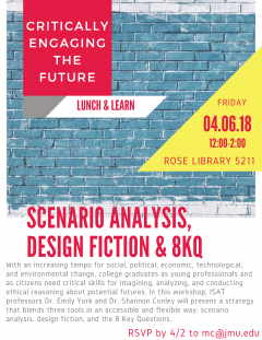 Flyer for an event we held to share Futures Lab approaches with faculty across campus