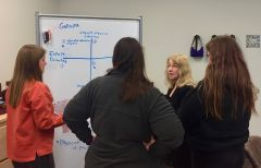 Students interact with an invited expert as part of the Co-Imagining Futures research project