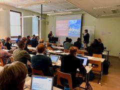 Shannon N. Conley and undergraduate student Nolan Harrington co-present at SEESHOP 2019.