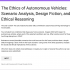 The first page of a Google form setting up an interactive scenario analysis about autonomous vehicles