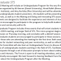 4S 2019 program page showing undergraduate STS program